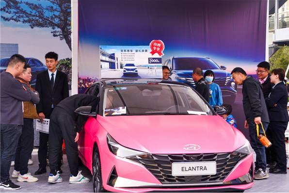 北京现代伊兰特 人民车市名城巡展晋城站最靓的崽