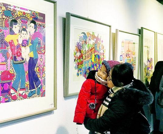 西海岸新区举行第二届现代民间绘画(胶南年画)展