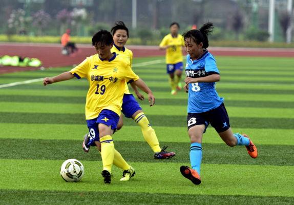 山东郯城一中女足将出征世界中学生足球赛